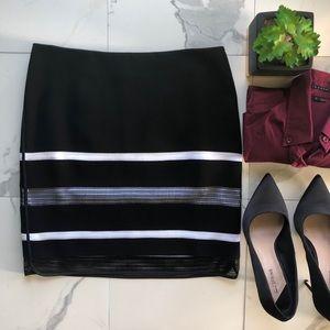 White House Black Market Mesh Pencil Skirt